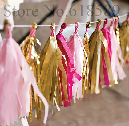 15pcs 3packs Tassels paper garland decoration paper Tissue curtain wedding party christmas decoration home decor(China (Mainland))