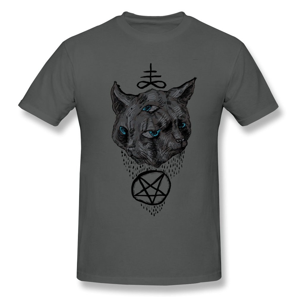 2014 new 100 cotton t shirt mens janus satan cat make own for T shirts with your own logo