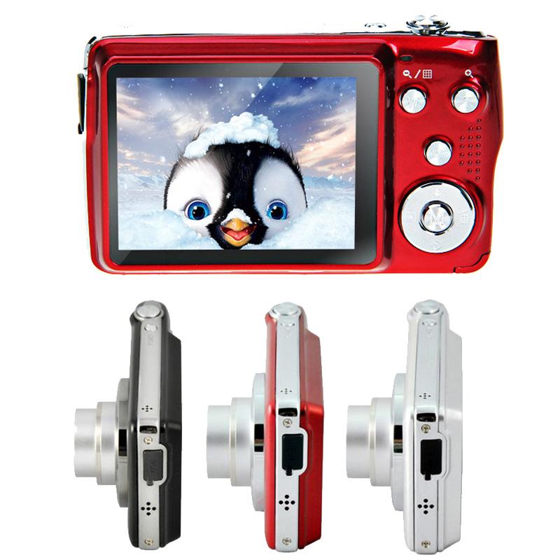 "2016 Newest Mini HD Digital Camera Professional 2.7"" TFT 4x Zoom Smile Capture Anti-shake Camaras Fotograficas Digitales AE0119(China (Mainland))"