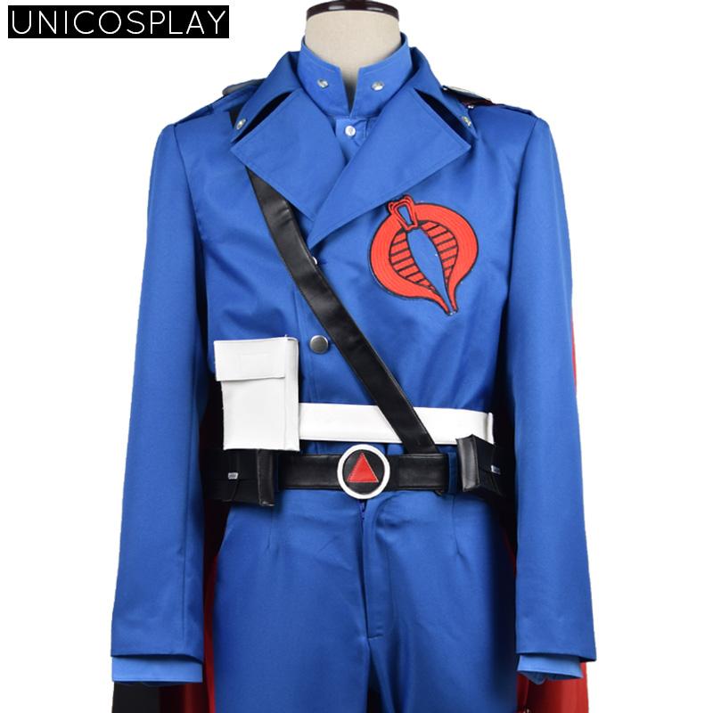 G.I. Joe Retaliation Cobra Commander Uniform Cosplay Costume Blue UniformОдежда и ак�е��уары<br><br><br>Aliexpress