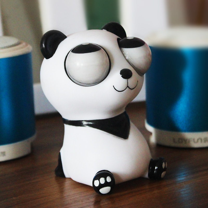 10cm Panda Anti Stress Squeeze Toys Funny Gags Practical Jokes Gadgets Joke Funny Gift Squeeze Toy Anti Stress Kids Toys(China (Mainland))