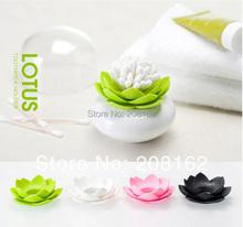 Lotus Cotton Bud Holder Creative Swabs Base Storage Bottles Jars Room Decoration(China (Mainland))