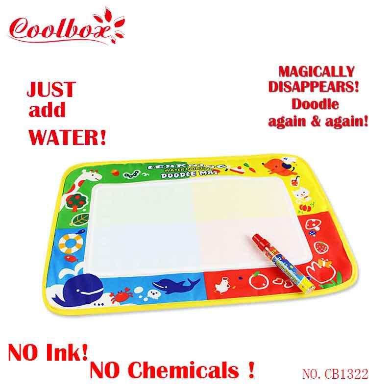 Coolbox CB1322 46x30cm 4 color Water Drawing Toys Mat Aquadoodle Mat&1 Magic Pen/Water Drawing board/ Free shipping dropping(China (Mainland))