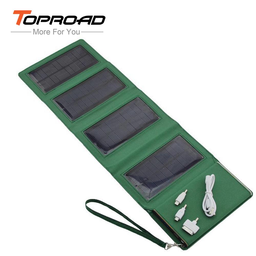 Portable power bank 8000mAh Folding solar storage power bateria externa cargador portatil universal powerbank with LED