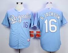 16 Bo Jackson jerseys 9 colors 2015 World Series Champions Patch Kansas City Royals cool base baseball Jersey(China (Mainland))