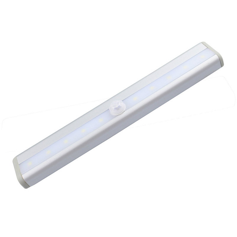 19cm Led PIR Auto Motion Sensor Light Cabinet Lamp Bulb wireless 10Leds battery operated closet light warm white/White light(China (Mainland))