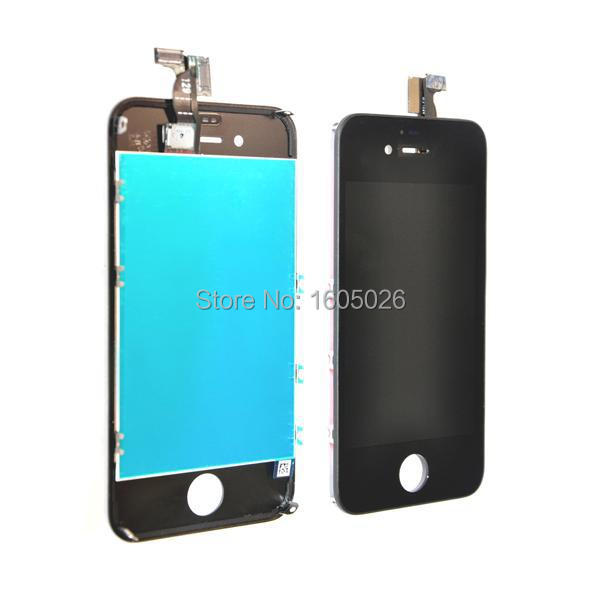 For Apple Iphone 4 4g (lcd) Screen Glass Replacement Digitizer with Frame + LCD Assembly A+ Quality Black Color(China (Mainland))