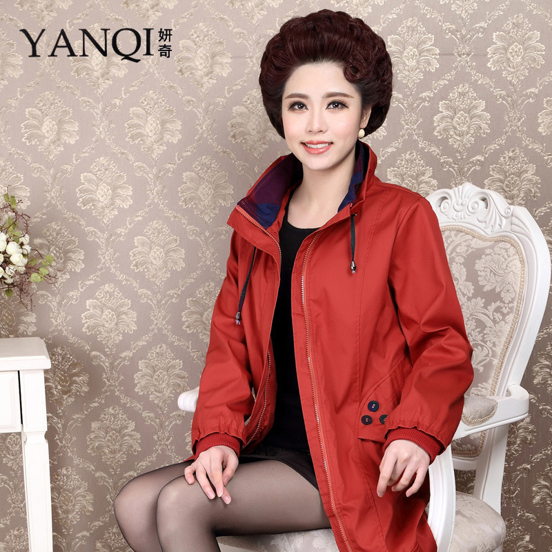 Yan Qi 2015 new spring middle-aged lady mother dustcoat middle-aged aunt.Одежда и ак�е��уары<br><br><br>Aliexpress