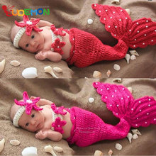 newborn photography props baby Costume Mermaid Infant baby photo props Knitting fotografia newborn crochet outfits accessories(China (Mainland))