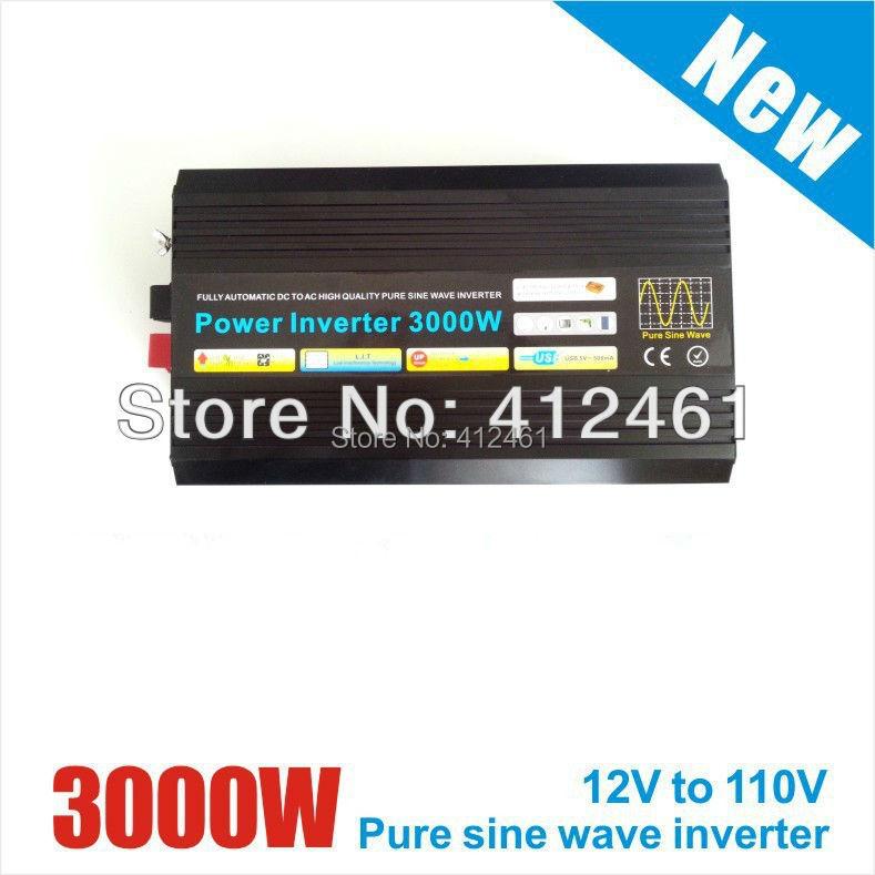 24VDC TO 220V AC Pure Sine Wave Power Inverter 3000W/3KW (Peak Power 6000W) UK/Australia/USA/Germany/france socket available!!(China (Mainland))