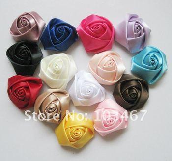 100pcs rose 14 colors can be choosen 4cm ribbon rosettes lowest price