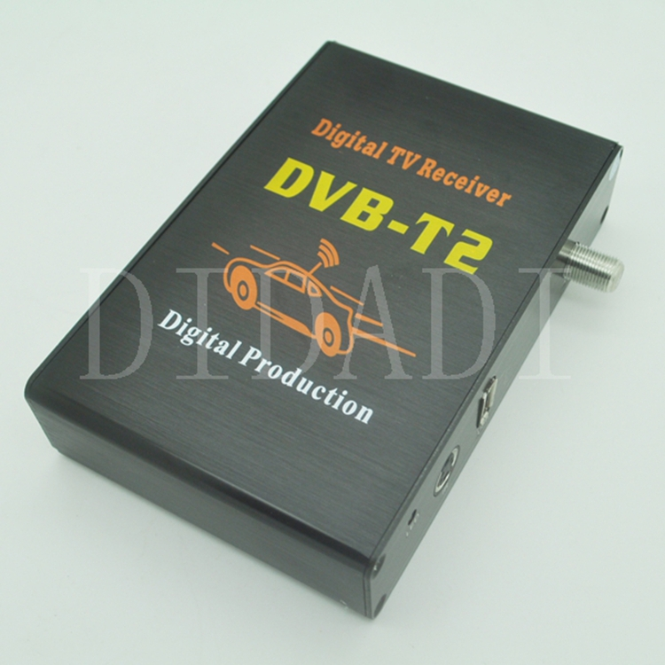 Free Shipping Car DVB-T2 Receiver Digital TV Tuner Receiver DVB T2 Set Top Box(China (Mainland))