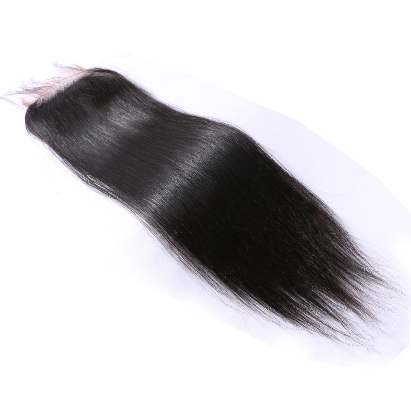 Grade 7a Brazillian 5X5 Lace Closure Cheap 5X5 Lace Closure With Bleached Knots Silk Straight Natural Color Closure Free Shiping<br><br>Aliexpress