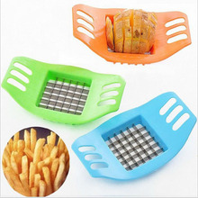 ABS+Stainless Steel Potato Cutter Vegetable Slicer Chopper Chips Making Device Fries Kitchen Cooking Tools free shipping(China (Mainland))