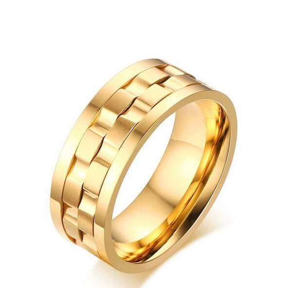 2016 Women/men 316l stainless steel rings fashion titanium rings gold/silver pating high polished jewelry never fade accessories(China (Mainland))