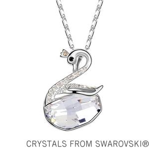 2014 New design original Austria rhinestone crystal swan necklace Made with Swarovski Elements