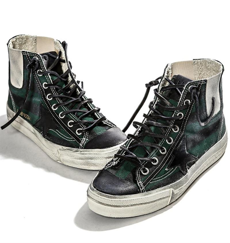 2015 New Original Deluxe Men Women Golden Goose GGDB Green Superstar flats shoes Fashion High Top Spring Autumn Casuals Shoes