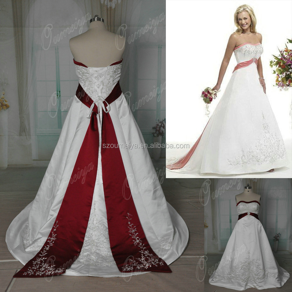 Silver satin wine promotion shop for promotional silver for Silver and red wedding dresses