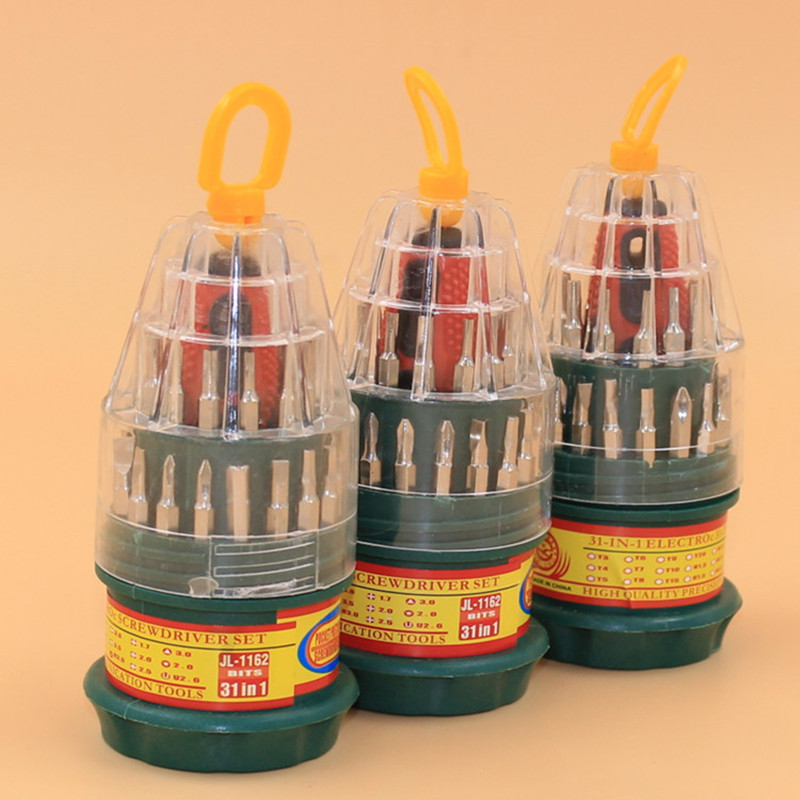 HOT Function Hand Mini Precision Multi-function 31 in 1 Electron Torx Screwdriver Repair Tool Set torque screwdriver(China (Mainland))