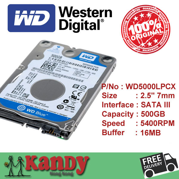 Western Digital WD Blue 500GB hdd 2.5 SATA disco duro laptop internal sabit hard disk drive interno hd notebook wholesale lot<br><br>Aliexpress