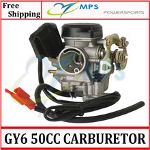 GY6 Scooter engine parts PD19J 19mm bore Carburetor for 50cc 60cc 80cc 100cc 4T 139QMB engine chinese scooters, atv, Quads