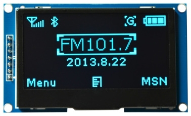 2.42 inch 7PIN SPI Blue OLED Screen LCD Module SSD1309 Drive IC 128*64 IIC Interface(China (Mainland))
