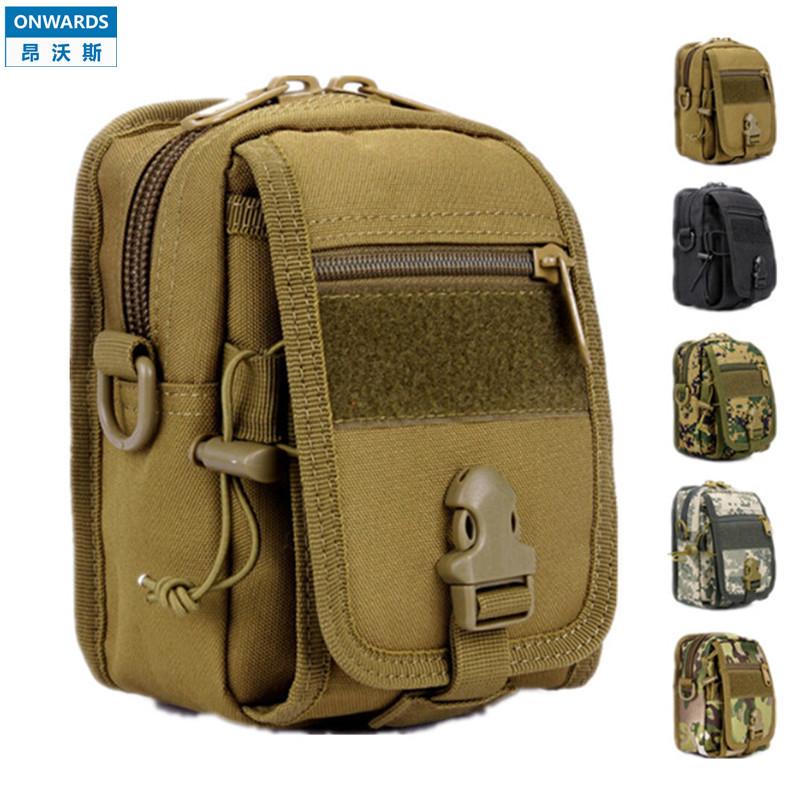 ONWARDS Military Small Waist Pack Outdoor Men's Molle Bag Accessories 1000D Waterproof Nylon Tactical Single-shoulder Bolsas(China (Mainland))