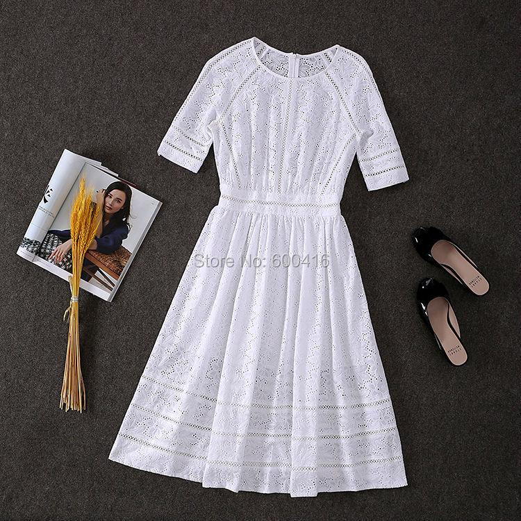 Белое Платье Из Хлопка Купить
