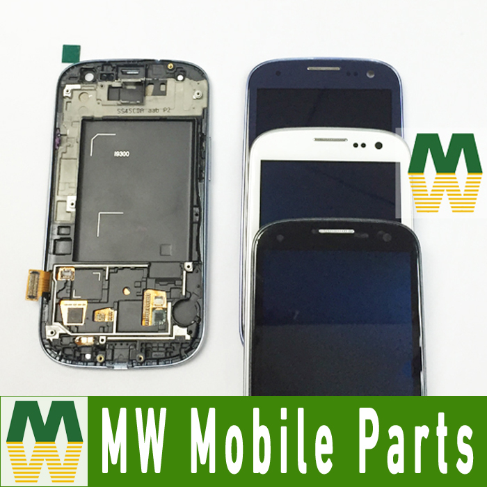 3 Colors For Samsung Galaxy S3 SIII i9300 GT-I9300 i9305 i747 LCD Display +Touch Screen +Frame 1PC /Lot(China (Mainland))