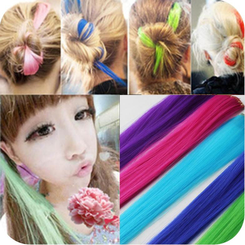 OH0008 free shipping new 2014 punk bleaching fluorescence color streaked hair piece can be cut wig hot hair accessories top sell(China (Mainland))