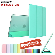 Case for iPad Air 2, ESR Yippee Color PU+Transparent PC Back Ultra Slim Light Weight Scratch-Resistant Case for iPad Air 2 6 Gen(China (Mainland))