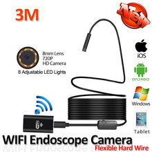 Buy 8LED HD720P 10M 2MP Hard Flexible Snake USB WIFI Android IOS Endoscope Camera Iphone Snake Tube Pipe Inspection Borescope Camera Co., Ltd) for $23.24 in AliExpress store