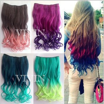 Hot 20inch 50cm One Piece Full Head 120g Curly Clip On Hair Extensions Synthetic Hair Extension 29 Colors Wholesale VH020(China (Mainland))