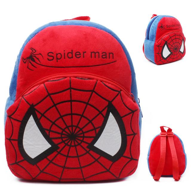 2015 новый ребенок прекрасный школьные сумки дети человек паук дизайн рюкзак мальчики ...