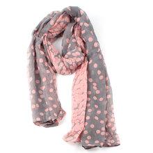 Fashion Warm Silk Scarf Cotton Long Large Winter Dot Gradient Color Talasite Pashmina Women Shawls and Scarves bufanda #68893(China (Mainland))