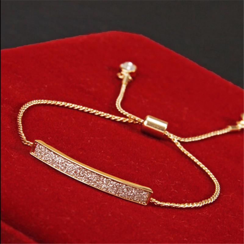 Unique CZ Diamond Micro Pave Fashion Bracelets & Bangles 18K Gold Plated Crystal Jewelry SL-177(China (Mainland))