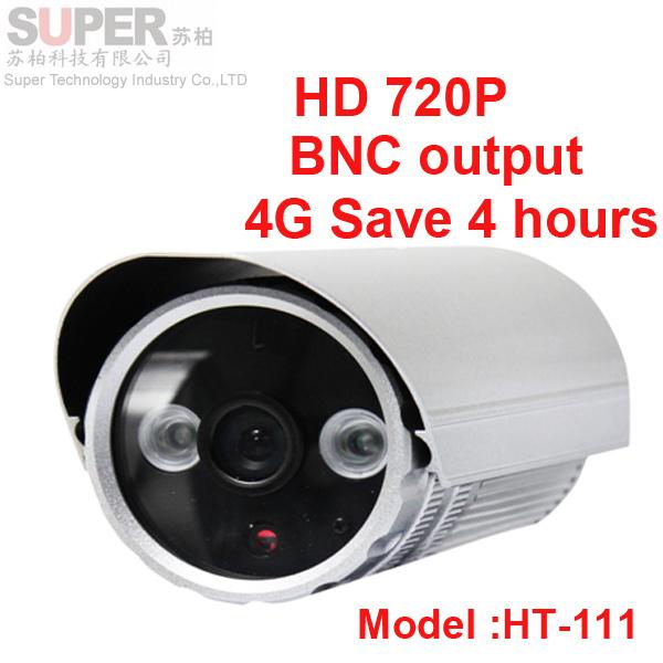 HT-111 720P USB CCTV camera DVR with motion detection Array IR Infrared Illuminator lamp Camcorder DV support TF card BNC output(China (Mainland))
