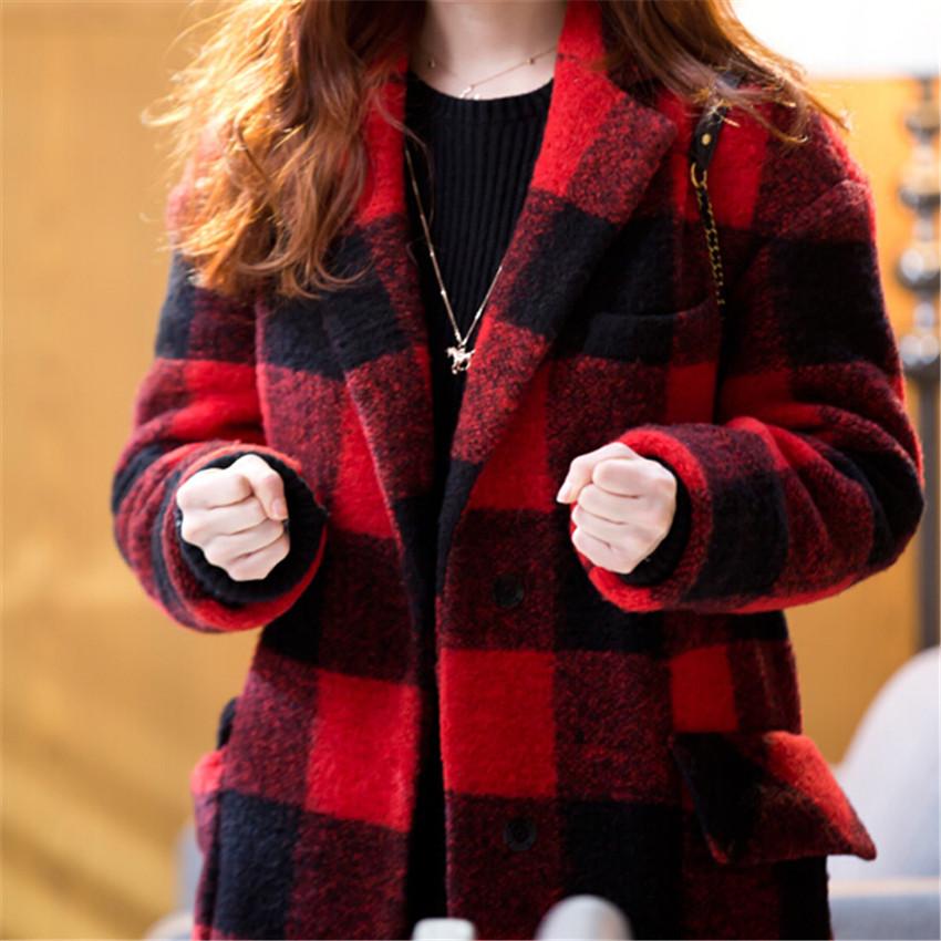 Plaid jacket women