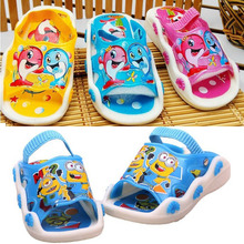 1 to 3 years old boy child girls sandals shoes slippers 2015 Summer Infant Toddler First Walkers Kids Prewalker Shoes Sandals(China (Mainland))