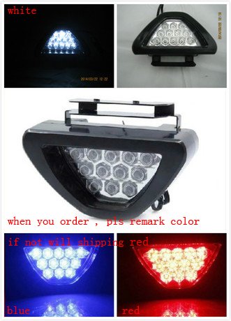 12 LED Flashing Rear Brake Tail Lamp Car Motorcycle 12V Safety Lights Red Color 3color 1pcs free shipping(China (Mainland))