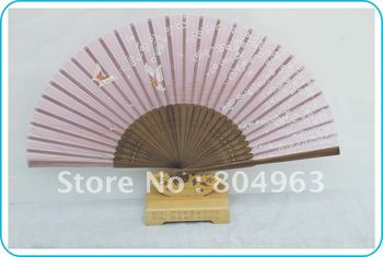 [China Confucian ]Free Shipping 10pcs/lot,Japanese real silk fan pink/purple for choosing , Top quality&best wedding gifts