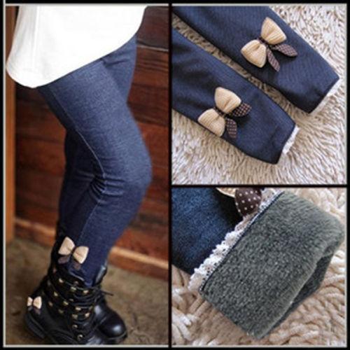 Новый осень зима дети девушки брюки брюки леггинсы бархат мягкие брюки брюки