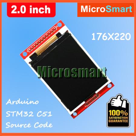 Wholesale 2 Inch 176*220 TFT LCD Module PCB SPI Port ILI9225 For A R D U I N O(China (Mainland))