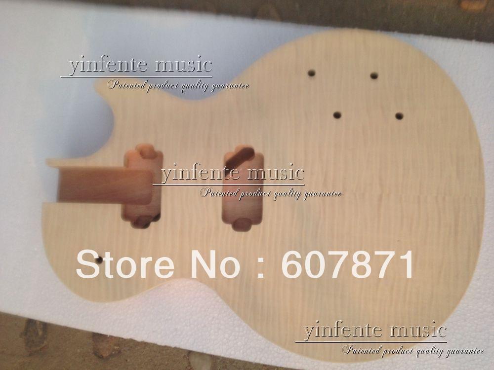 one electric guitar body.Mahogany made and Tigrina flame maple top 3#<br><br>Aliexpress