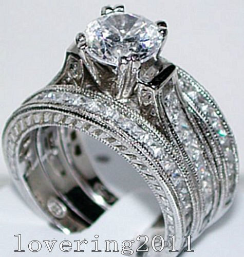 Popular New Wedding Rings Vintage Wedding Ring Sets White Gold