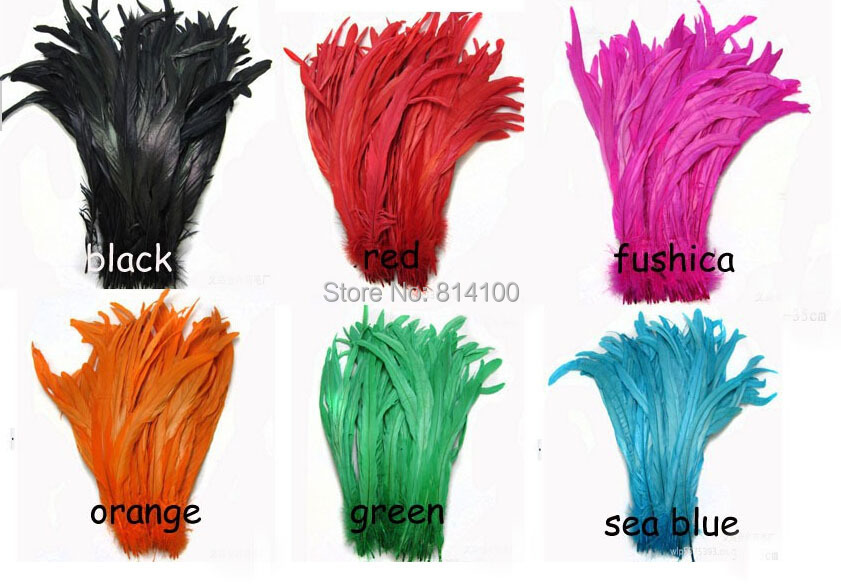 35-40cm Rooster tail feather DIY feather / clothing accessories jewelry accessories / wedding supplies / performance necessary(China (Mainland))