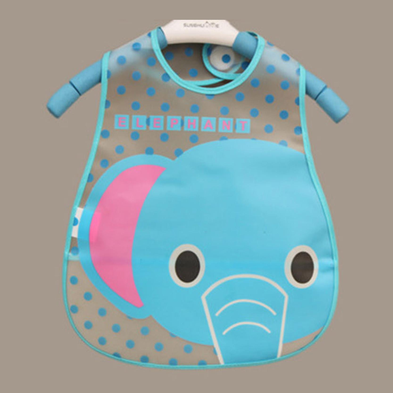 Baby Bibs Waterproof Elephant Cartoon Children Infant