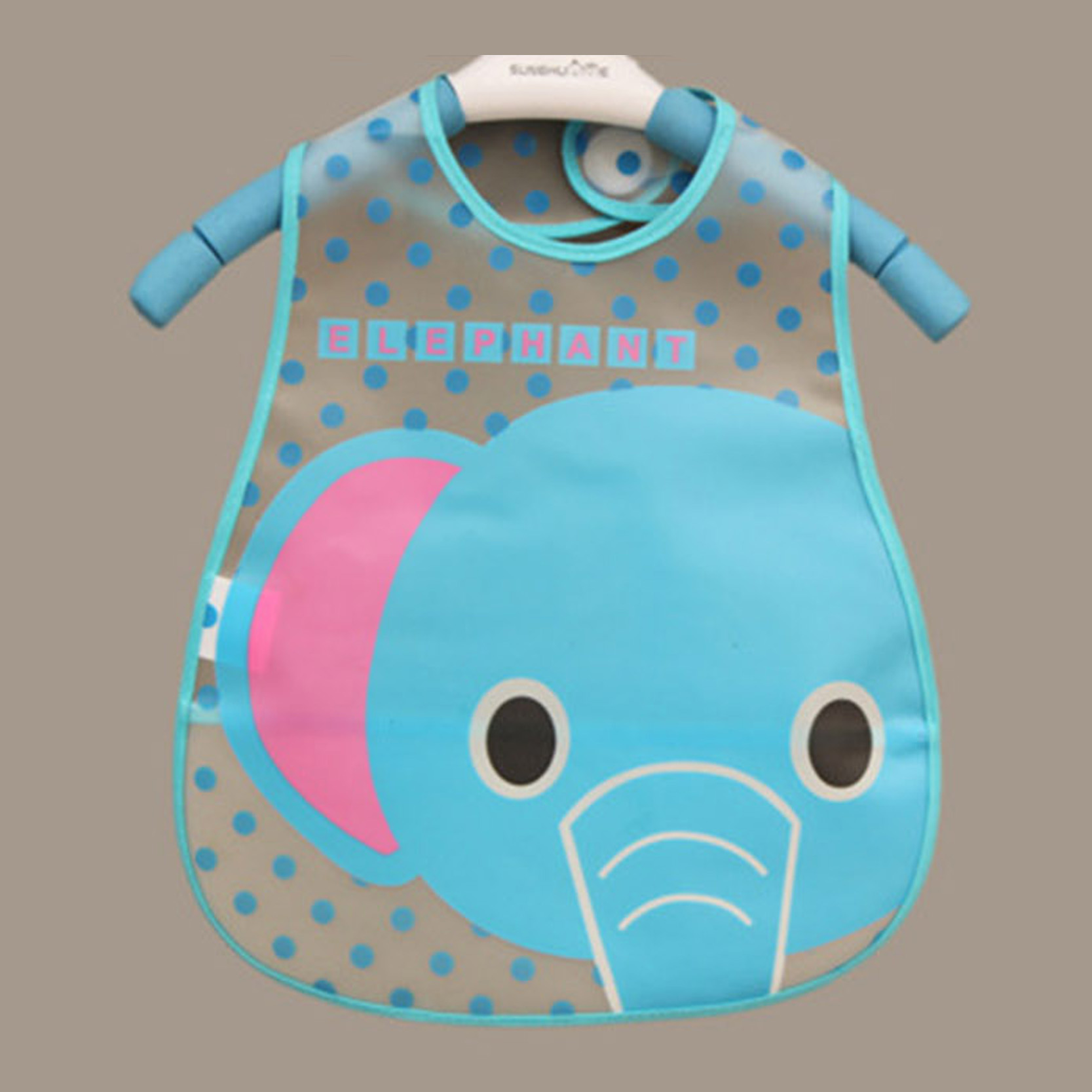 Baby Bibs Waterproof Elephant Cartoon Children Bibs Infant Burp Cloths 2015 Brand Clothing Towel Kids Clothing Accessories(China (Mainland))