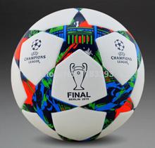 New 2015-2016 season Champion league ball Final Berlin soccer ball football ball TPU granule slip-resistant size 5 high quality(China (Mainland))