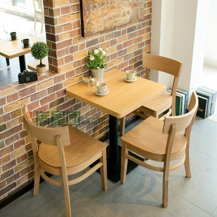 Mesa de caf simples e cadeira madeira ash cadeira de for Muebles para cafeteria precios